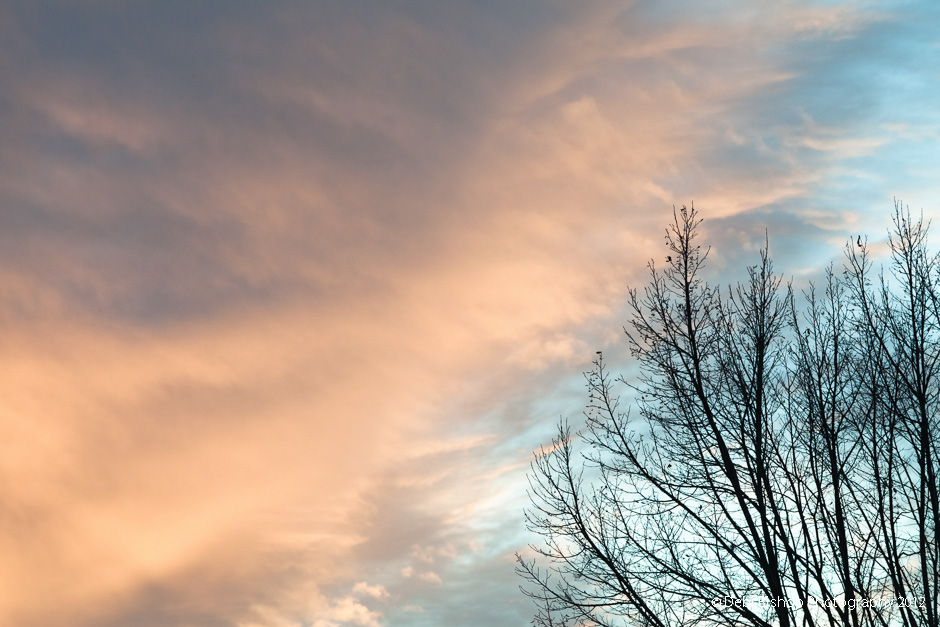 A typical spring sunset sky